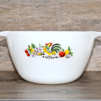 Vintage Anchor Hocking Fire King Rooster Fruit Nesting Bowl