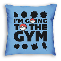 I'm Going to the Gym Pokemon Pillow ( Six 3 )