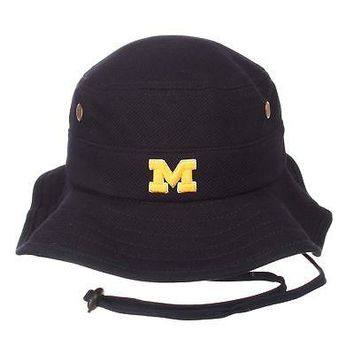 Licensed Michigan Wolverines Official NCAA Coach Large Bucket Hat Cap by Zephyr 201114 KO_19_1