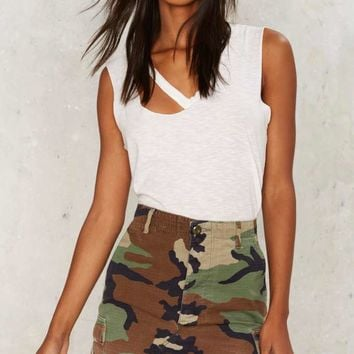 After Party by Nasty Gal In the Trenches Camo Mini Skirt