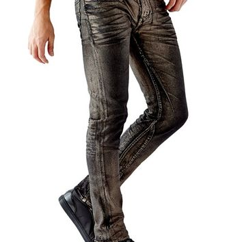Slim Tapered Jeans in Pewter Foil Wash | GUESS.com