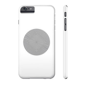 Circle with kinetic art Phone Case