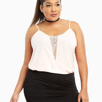 Lace Inset Cami Top