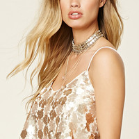 Sequin Cropped Cami
