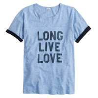 J.Crew Womens Vintage Cotton Long Live Love Tee