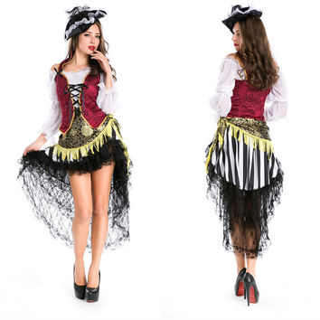 Women Pirate Cosplay Anime Cosplay Apparel Holloween Costume [9220287940]