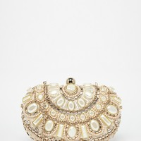 ALDO Beaded Box Clutch Bag