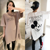Mickey Mouse Tee Print Maternity SHirt