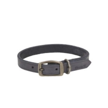 "Coastal Circle T Leather Town Dog Collar 5/8"" x14"" Grey"