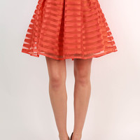 Twist & Twirl Skirt in Tangerine