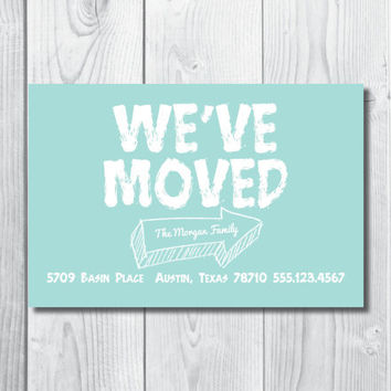 We've Moved Card - Change Of Address Announcement Personalized & Custom Made PDF
