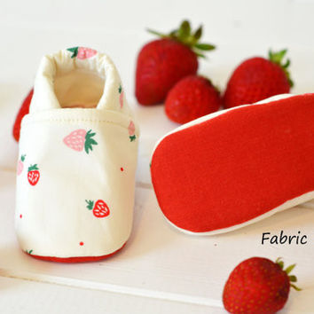 "Organic ""Strawberry"" Shoes - NB to 4T"