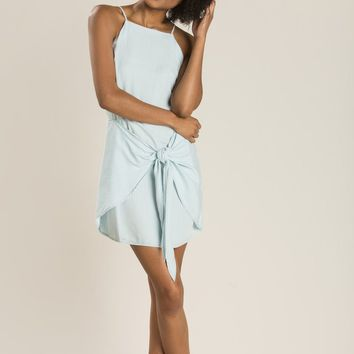 Desiree Chambray Stripe Knot Dress