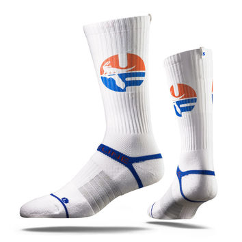 Strideline® 2.0 Retro Gator University of Florida White Crew Socks NEW
