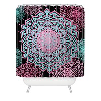 Lisa Argyropoulos Boho Medallions Aqua Rose Shower Curtain