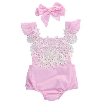 Cute Pink Baby girl set