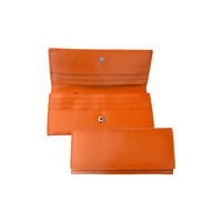 Classic Leather Wallet - Orange