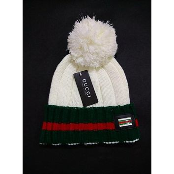 Perfect GUCCI Women Men Embroidery Beanies Knit Hat Warm Woolen Hat