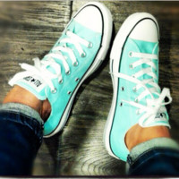 """Converse"" Fashion Canvas Flats Sneakers Sport Shoes Low tops Mint Green"
