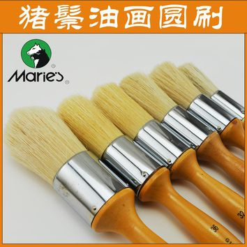 Marie's G1730 bristle paint oil brushes watercolor brushes large area art paint brush for drawing pen art supplies free shipping
