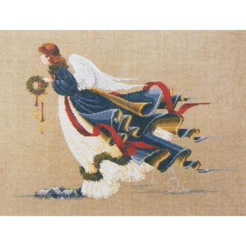 The Second Angel of Freedom - Counted Cross Stitch Leaflet - Lavender & Lace