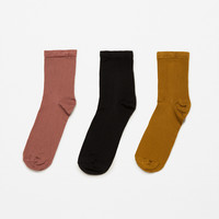 3-PACK OF BASIC SOCKS DETAILS