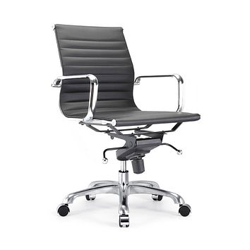 Century Black Modern Classic Aluminum Office Chair