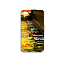 Cute Rainbow Paint Splatter Piano Keys iPod Phone Case iPhone Cool Music Cover