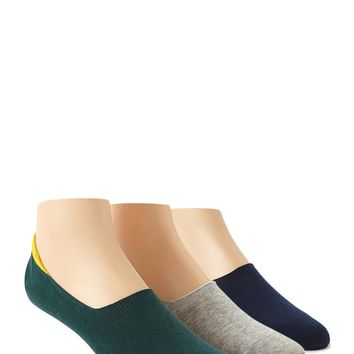Men No Show Socks - 3 Pack