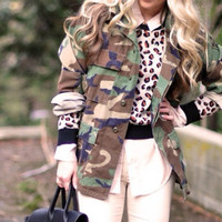 AUTHENTIC Vintage military army camo oversized jacket In stock