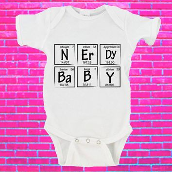 Nerdy Baby Periodic Table Gerber Onesuit ®