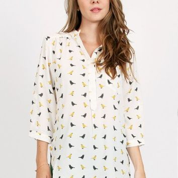 Canary Printed Top