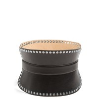 Grommet-embellished leather waist belt | Alexander McQueen | MATCHESFASHION.COM US