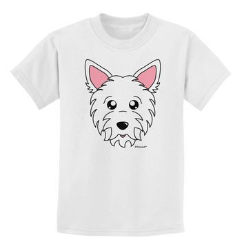 Cute West Highland White Terrier Westie Dog Childrens T-Shirt by TooLoud