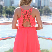 WHITE ANGEL DRESS , DRESSES, TOPS, BOTTOMS, JACKETS & JUMPERS, ACCESSORIES, SALE, PRE ORDER, NEW ARRIVALS, PLAYSUIT, COLOUR,,Coral,CUT OUT,BACKLESS Australia, Queensland, Brisbane