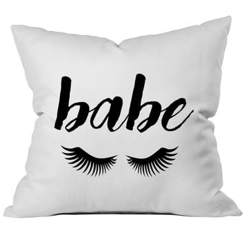 Babe Fashionable 18x18 Inch Throw Pillow Cover