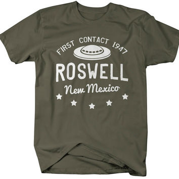 Men's Unisex Roswell New Mexico T-Shirt Alien Shirts UFO Tee Aliens First Contact Shirts Gift Idea