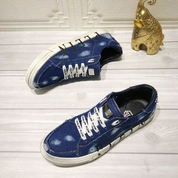 Philipp Plein Denim Blue Men Fashion Casual Sneakers Sport Shoes