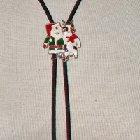 Christmas Bolo Tie Santa Claus Cow Holiday Men's Jewelry Fashion Accessories For Him