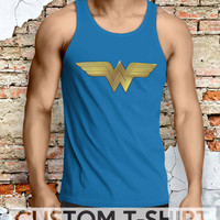 Wonder Woman Symbol Men Tanktop - Lzi Tanktop For Men  / Custom - Tanktop / Men Tanktop