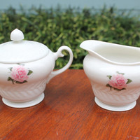 Theodore Haviland Rose Sugar and Creamer, Tea Set, Coffee Accessories, Servingware