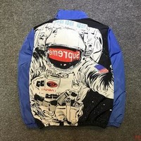 AUGUAU Blue Replica supreme X Nasa jacket