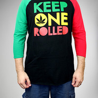 Keep One Rolled Raglan Tee