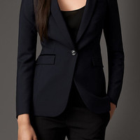 Tailored Wool Mohair Jacket