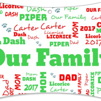 Personalized Christmas Ornament--Family--2017