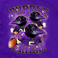 Purple Friday Baltimore Raven Fan