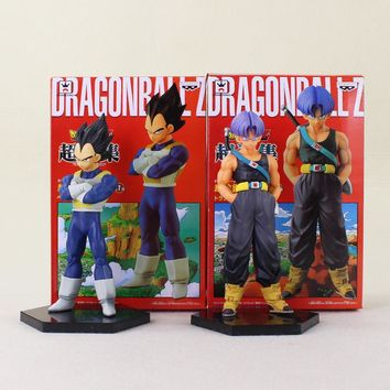 2 Styles 15cm Cosplay Dragon Ball Z Trunks Vegeta father and Son PVC Action Figure Model Doll Toys For Kids Gifts