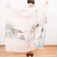 Frances May - Milleneufcentquatrevingtquatre Landscapes Scarf