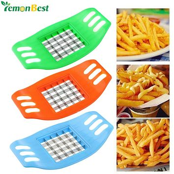 1Pcs Potato Chips Cutter Stainless Steel Vegetable Square Slicer Cutting Device Cut Fries Kitchen Tool For French Fry Cutters