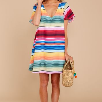 Malibu State Of Mind Multi Striped Dress